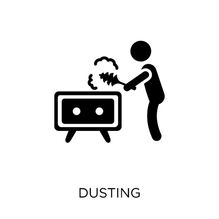 Dusting icon. Dusting symbol design from Cleaning collection. Simple element vector illustration on white background. Ilustração