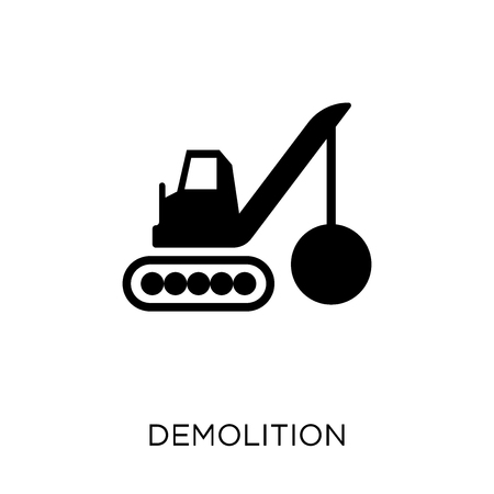 Demolition icon. Demolition symbol design from Construction collection. Simple element vector illustration on white background.