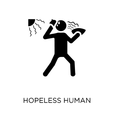 hopeless human icon. hopeless human symbol design from Feelings collection. Simple element vector illustration on white background. Illustration