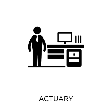 Actuary icon. Actuary symbol design from Professions collection. Simple element vector illustration on white background. Illustration