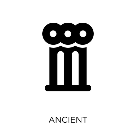 Ancient icon and symbol. Simple element vector illustration on white background. Illustration