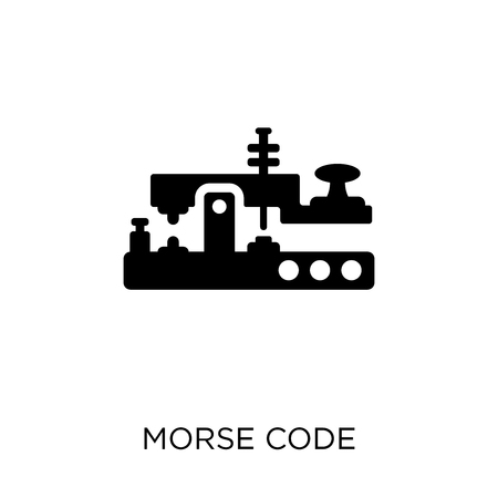 Morse code icon. Morse code symbol design from Communication collection. Simple element vector illustration on white background.  イラスト・ベクター素材