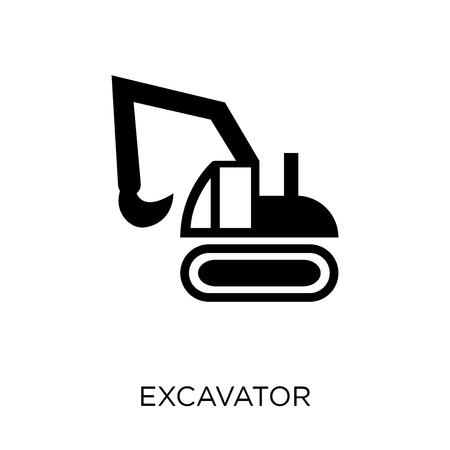 Excavator icon. Excavator symbol design from Construction collection. Simple element vector illustration on white background.