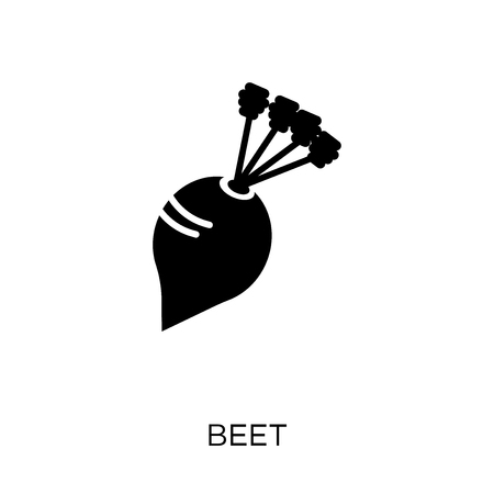 Beet icon. Beet symbol design from Fruit and vegetables collection. Simple element vector illustration on white background.
