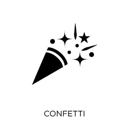 Confetti icon. Confetti symbol design from Christmas collection. Simple element vector illustration on white background.