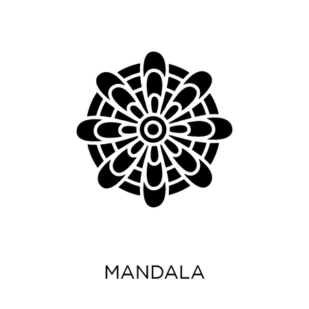 Mandala icon. Mandala symbol design from India collection. Simple element vector illustration on white background.
