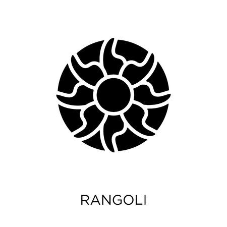 Rangoli icon. Rangoli symbol design from India collection. Simple element vector illustration on white background.