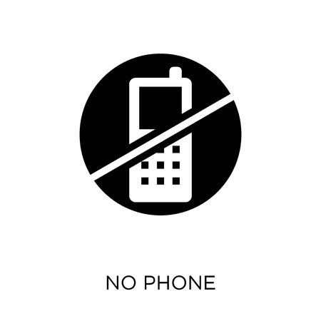 No phone icon and symbol design. Simple element vector illustration on white background.  イラスト・ベクター素材