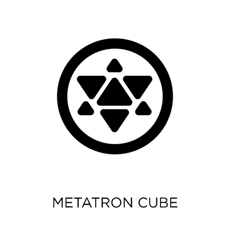 Metatron cube icon. Metatron cube symbol design from Geometry collection. Simple element vector illustration on white background.