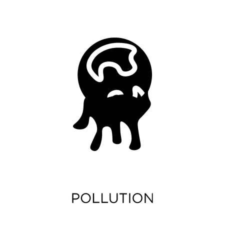 Pollution icon. Pollution symbol design from Ecology collection. Simple element vector illustration on white background.