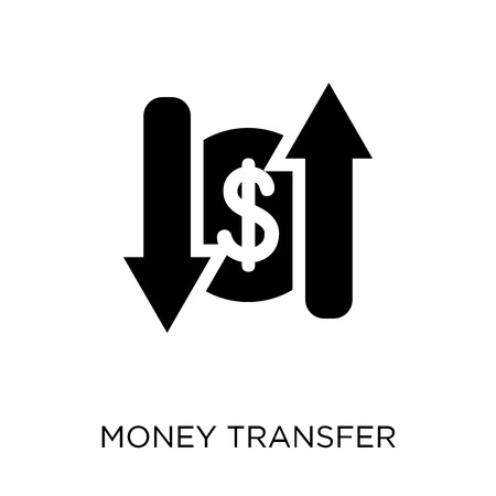 Money transfer icon. Money transfer symbol design from Payment collection. Simple element vector illustration on white background. Foto de archivo - 112679994
