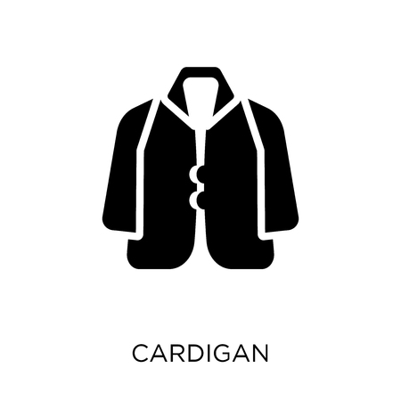 Cardigan icon. Cardigan symbol design from Clothes collection. Simple element vector illustration on white background.