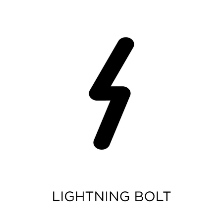 Lightning bolt polygonal icon. Lightning bolt polygonal symbol design from Geometry collection. Simple element vector illustration on white background. Vectores
