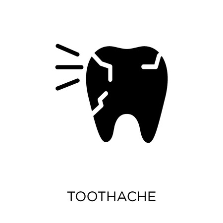 Toothache icon. Toothache symbol design from Dentist collection. Simple element vector illustration on white background. Ilustração