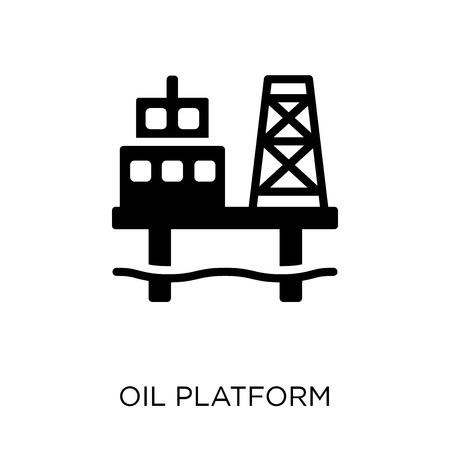 Oil platform icon. Oil platform symbol design from Industry collection. Simple element vector illustration on white background.