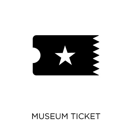 Museum Ticket symbol design from Museum collection. Simple element vector illustration on white background.