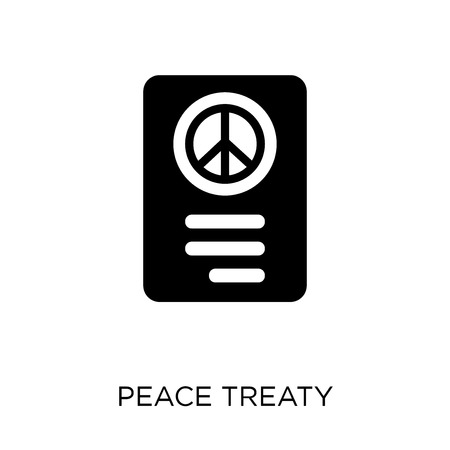 Peace treaty icon. Peace treaty symbol design from Political collection. Simple element vector illustration on white background. Illustration