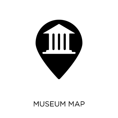 Museum Map symbol design from Museum collection. Simple element vector illustration on white background.