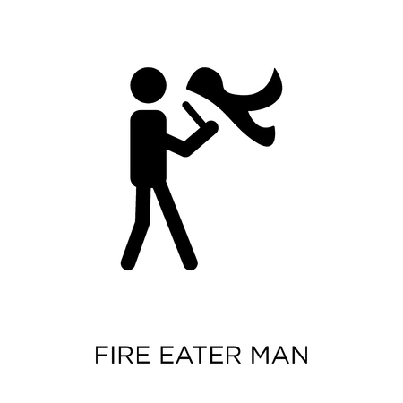 Fire eater man icon. Fire eater man symbol design from Circus collection. Simple element vector illustration on white background.