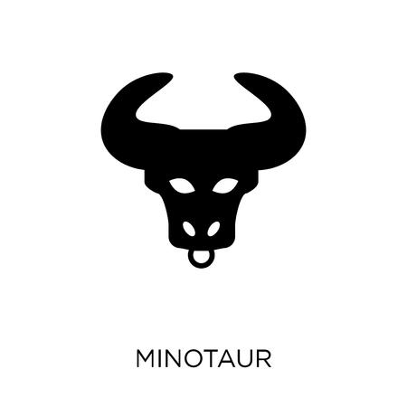 Minotaur icon. Minotaur symbol design from Fairy tale collection. Simple element vector illustration on white background. Illustration