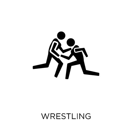 Wrestling icon. Wrestling symbol design from Professions collection. Simple element vector illustration on white background.