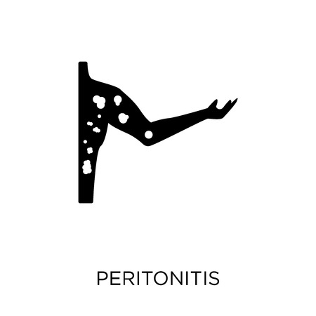 Peritonitis icon. Peritonitis symbol design from Diseases collection. Simple element vector illustration on white background.