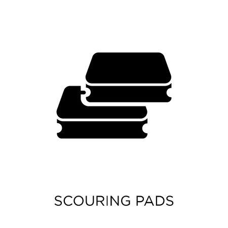 scouring pads icon. scouring pads symbol design from Cleaning collection. Simple element vector illustration on white background.