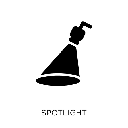Spotlight icon. Spotlight symbol design from Cinema collection. Simple element vector illustration on white background. Иллюстрация