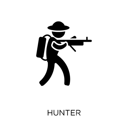Hunter icon. Hunter symbol design from Professions collection. Simple element vector illustration on white background. Illustration