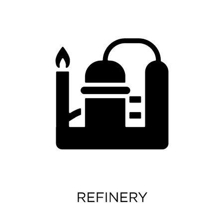 Refinery icon. Refinery symbol design from Industry collection. Simple element vector illustration on white background. Ilustração