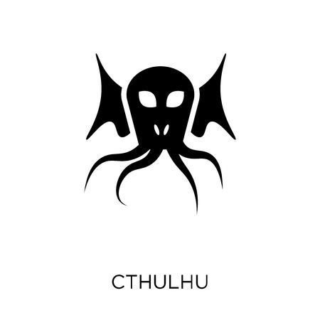 Cthulhu icon. Cthulhu symbol design from Fairy tale collection. Simple element vector illustration on white background.