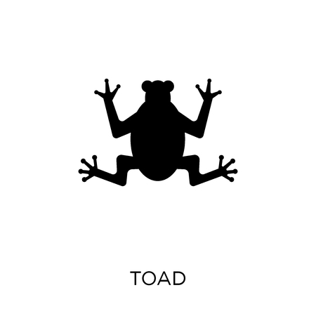 toad icon. toad symbol design from Fairy tale collection. Simple element vector illustration on white background. Illustration