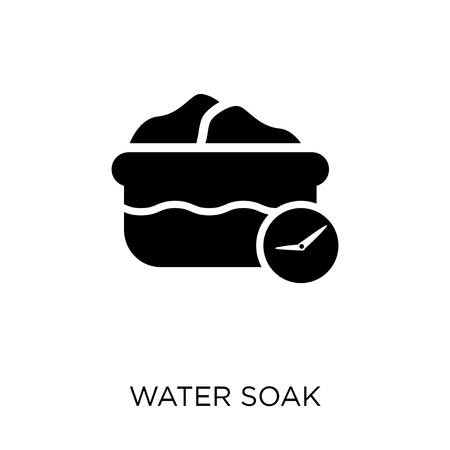 Water soak icon. Water soak symbol design from Cleaning collection. Simple element vector illustration on white background.