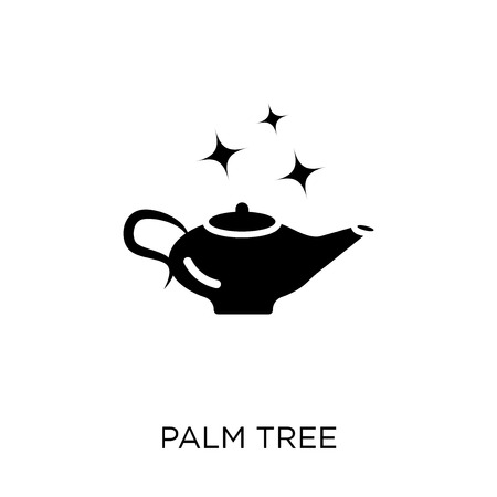 Palm tree icon. Palm tree symbol design from Desert collection. Simple element vector illustration on white background.