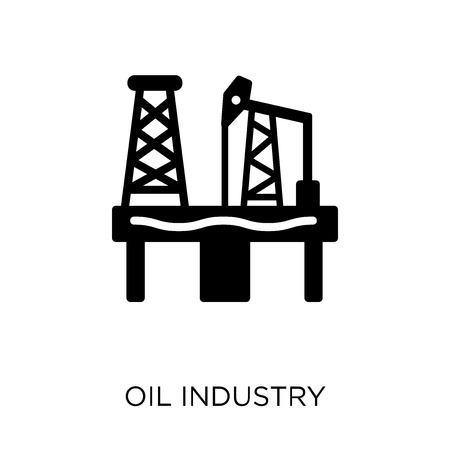 Oil industry icon. Oil industry symbol design from Industry collection. Simple element vector illustration on white background.