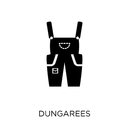 Dungarees icon. Dungarees symbol design from Clothes collection. Simple element vector illustration on white background.