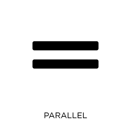 Parallel icon. Parallel symbol design from Geometry collection. Simple element vector illustration on white background. Çizim