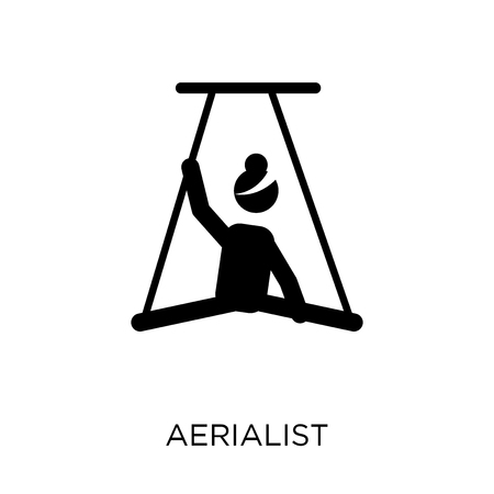 Aerialist icon. Aerialist symbol design from Circus collection. Simple element vector illustration on white background. Illustration