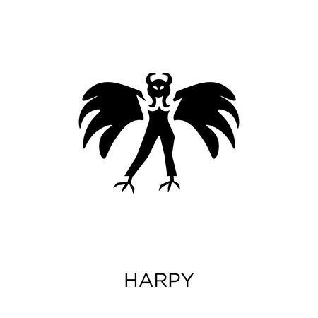 Harpy icon. Harpy symbol design from Fairy tale collection. Simple element vector illustration on white background. Illusztráció