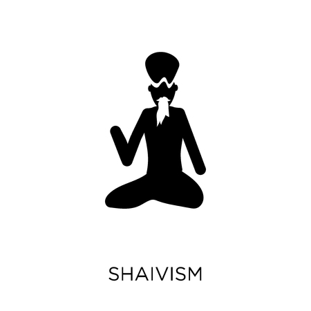 shaivism icon. shaivism symbol design from India collection. Simple element vector illustration on white background. Illustration