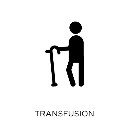 Transfusion icon. Transfusion symbol design from Health and medical collection. Simple element vector illustration on white background.