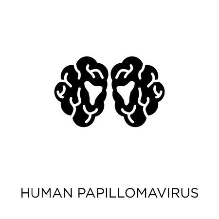 Human papillomavirus (HPV) icon. Human papillomavirus (HPV) symbol design from Diseases collection. Simple element vector illustration on white background.