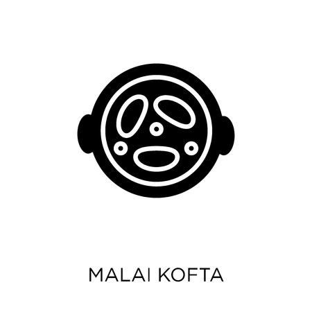 Malai kofta icon. Malai kofta symbol design from India collection. Simple element vector illustration on white background. Illustration