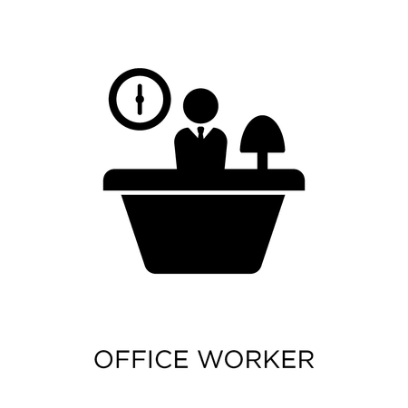 Office worker  icon. Office worker  symbol design from Professions collection. Simple element vector illustration on white background. Çizim