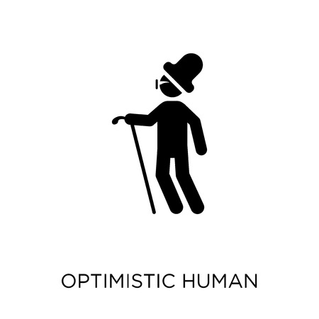 optimistic human icon. optimistic human symbol design from Feelings collection. Simple element vector illustration on white background.