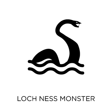 Loch ness monster icon. Loch ness monster symbol design from Fairy tale collection. Simple element vector illustration on white background. Illustration