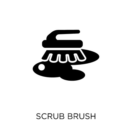 scrub brush icon. scrub brush symbol design from Cleaning collection. Simple element vector illustration on white background.