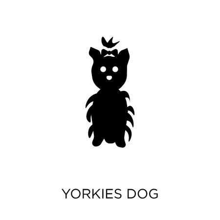 YORKIES dog icon. YORKIES dog symbol design from Dogs collection. Simple element vector illustration on white background. Ilustração