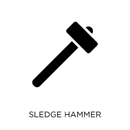 Sledge hammer icon. Sledge hammer symbol design from Construction collection. Simple element vector illustration on white background.