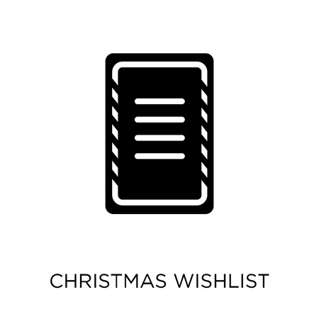 christmas wishlist icon. christmas wishlist symbol design from Christmas collection. Simple element vector illustration on white background. Stock Illustratie